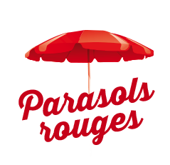 parasols rouges
